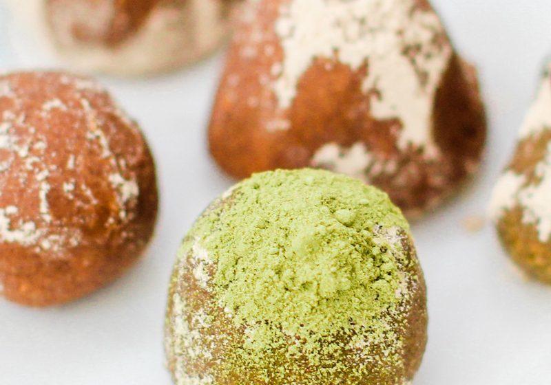 Matcha, Almond Butter, and Carob Balls   Carob Recipes by Australian Carobs