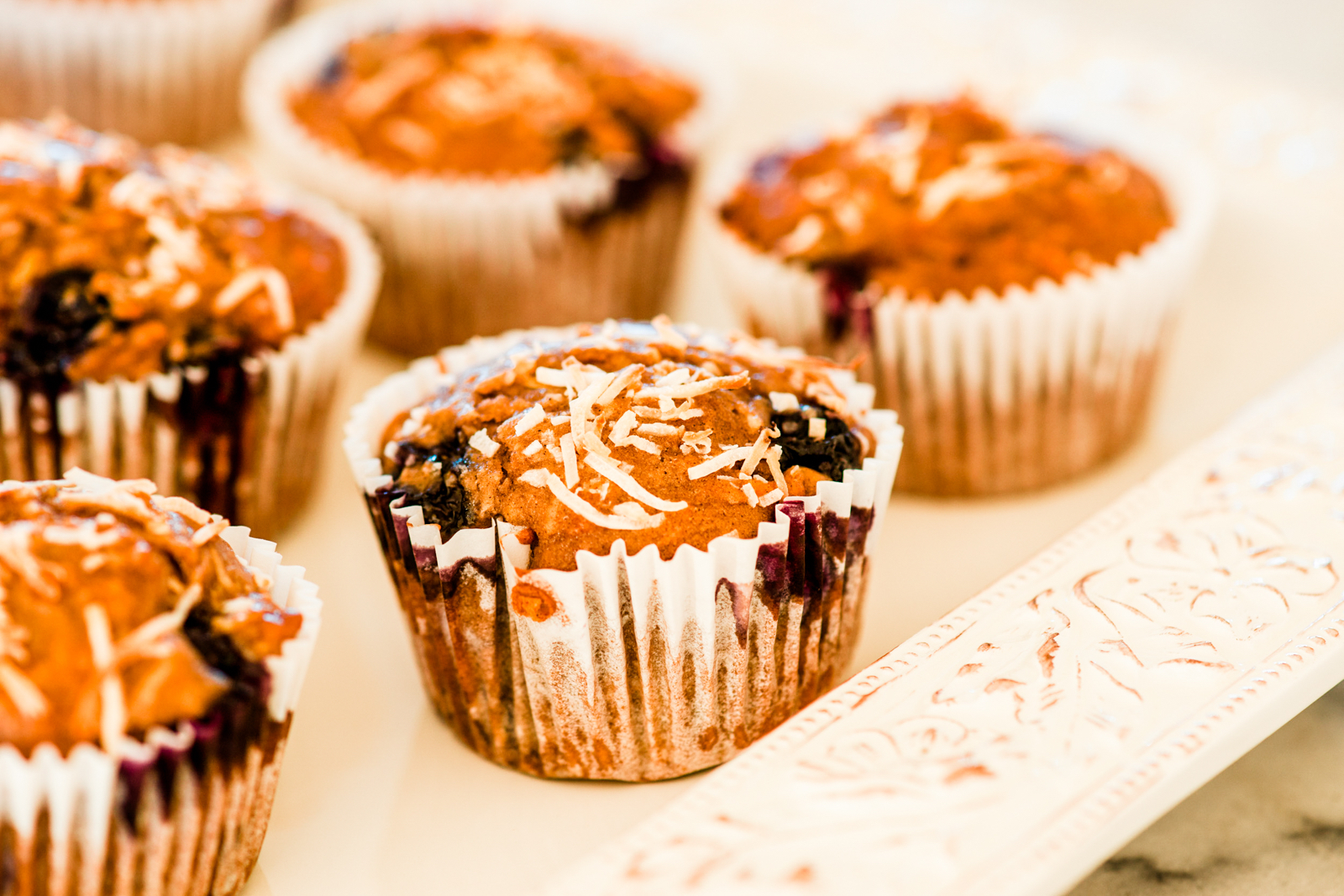 Blueberry and Carob Muffins Recipe | Carob Recipes using Australian Carobs