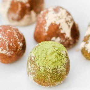 Matcha, Almond Butter, and Carob Balls | Carob Recipes by Australian Carobs